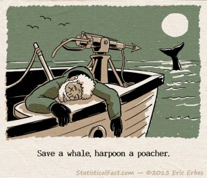 dead guy with a harpoon in his back on a whaling boat