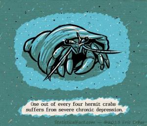 blue hermit crab on ocean floor
