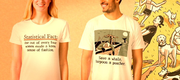 statistical fact themed tshirts