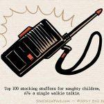 a single black kids walkie talkie